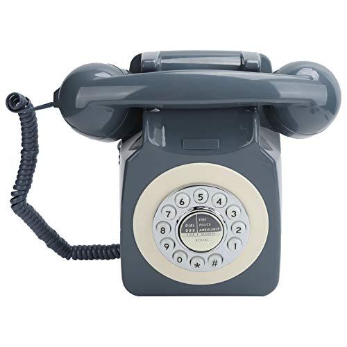 Annadue Teléfono con Cable, teléfono Fijo clásico Retro Antiguo, teléfono con botón Grande con Cable con reducción de Ruido, Estilo Europeo, Estilo Pastoral, Adecuado para el hogar y la Oficina.
