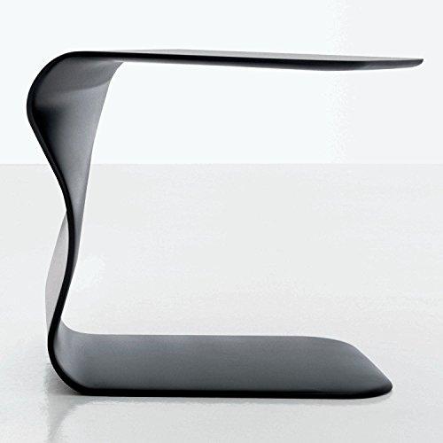 L'Adler Design Arredamenti BONALDO Beistelltisch Duffy Grau Anthrazit matt lackiert Nachttisch Schlafzimmer Wohnzimmer TD35