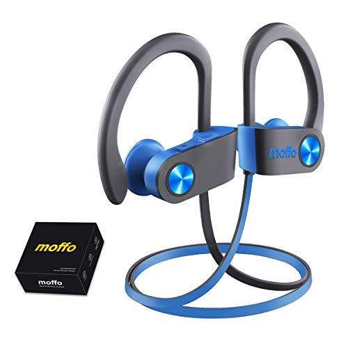 Wireless Headphone - Moffo Bass Stereo in Ear (2020 Upgrade Version), Sport Sweatproof Earbuds Noise Cancelling Headset with Built-in Mic for Sport Gym Running Workout 8 Hrs for Men, Women and Gift
