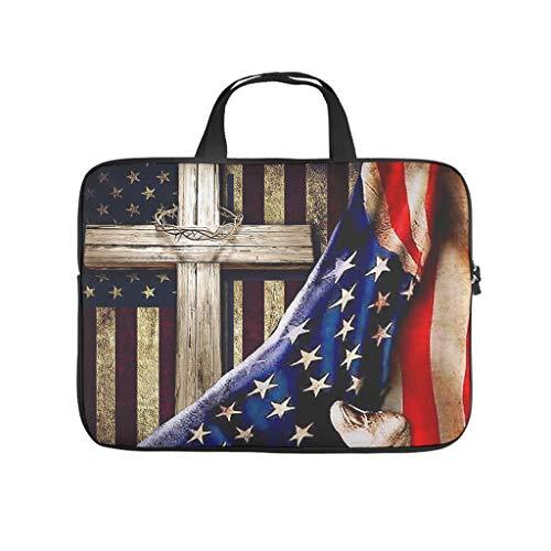 Christian Cross Flag 3D Print Laptop Bag Protective Case Slim Neoprene Laptop Bag Case Trendy Notebook Bag Sleeve Case Sizes Available