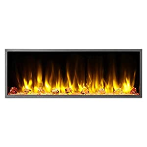 "Dynasty Harmony BEF Realistic Linear Electric Fireplace with Multicolor Flame (45"" Wide)"