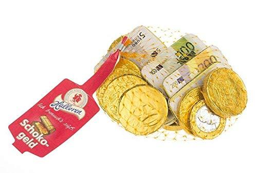 Halloren Schokogeld Münzen und Scheine Schokolade 150g