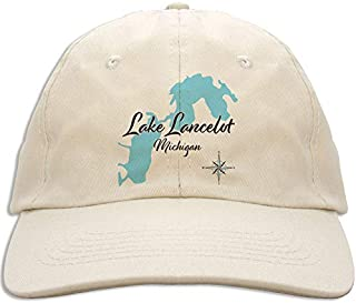 Belle Taine in HUBBARD, MN (884 LS) - Baseball Cap - Nautical chart and topographic depth map.