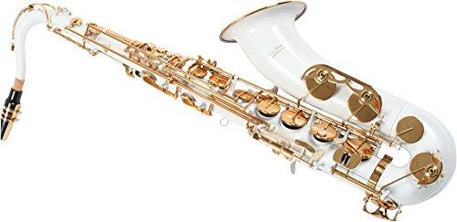 Karl Glaser Tenor Saxophon, weiß/gold, mit Koffer