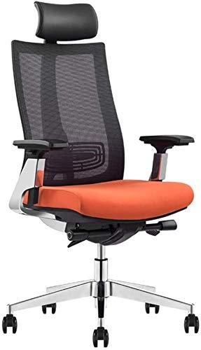 Silla de oficina con brazos, sillas de escritorio, respaldo ergonómico giratorio para el hogar y la oficina, con sillón de malla (color A: A)
