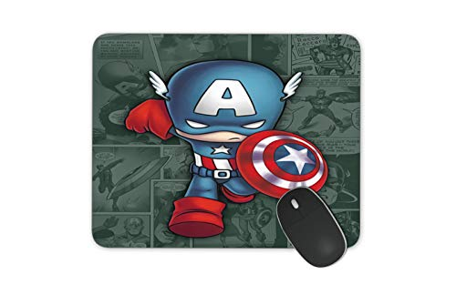 JNKPOAI Captain America Mousepad. Marvel Series Mouse Pads.Office Mousepad (Captain America)