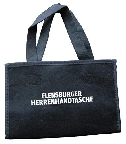 Flensburger Brauerei - Herrenhandtasche - Flaschenträger für 6 Flaschen - 26 x 13 cm