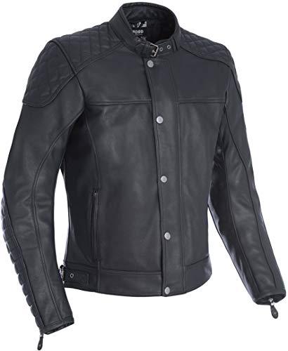 LM170101XL - Oxford Hampton Leather Motorcycle Jacket XL Black (44)
