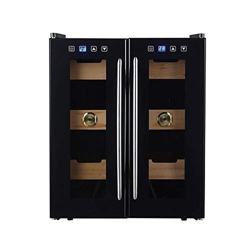 CHENMAO Mini Two-zone Built-in Freestanding Stainless Steel Wine Cabinet, 24 Bottles Freestanding Wine Cabinet Refrigerator, Glass Door