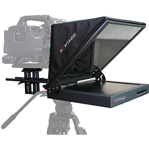 Fortinge PROS15-HB Teleprompter de estudio de 15 pulgadas de alto brillo con entradas HDMI, VGA y compuestas