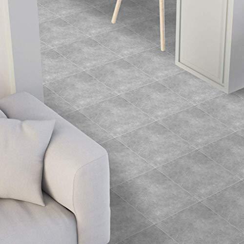 Fliesenaufkleber Boden Badezimmer Grauer Marmor Selbstklebender Bodenaufkleber Fliesenkleber Wasserdichte Bodenaufkleber Schlafzimmer,2
