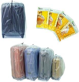 IDEAPLAS Luggage Storage Bags with Drawstring (4pcs)- Storing Luggage size 20-32Inches. Plastic Storage for large item lik...