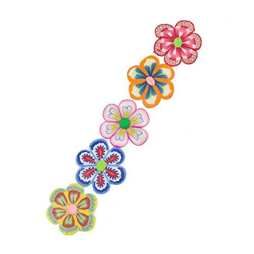 5 Filles Fleur école Snap Cheveux Barrettes cœurs Accessoires de fête