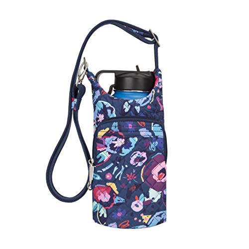 Travelon Women's Anti-Theft Boho Water Bottle Tote Bag, Mod Floral, One Size