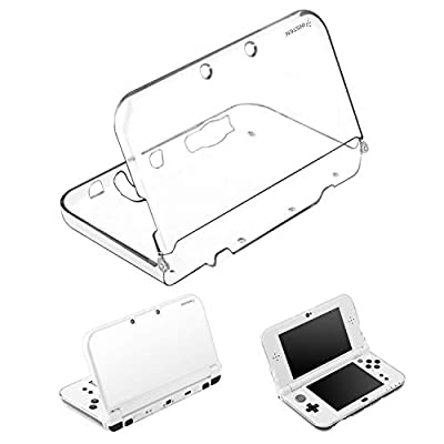 For 3DS XL Clear Case by Insten Ultra Clear Crystal Transparent [Hard Plastic/Soft Case] Slim Fit Protective Anti-Scratch Carrying Travel Cover Case compatible with Nintendo New 3DS XL / 3DS LL 2015