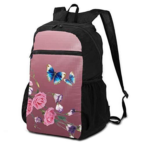 JOCHUAN Daypack Travel Backpack Beija Flor Hummingbirds Birds Flowers Light Nature Travel Backpack Packable Lightweight Foldable Backpack Lightweight Waterproof for Men & Womentravel Camping Outdoor