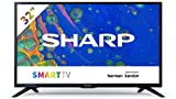 Sharp Aquos 32BC6E - 32' Smart TV HD Ready LED TV, Wi-Fi, DVB-T2/S2, 1366 x 768 Pixels, Nero, suono Harman Kardon, 3xHDMI 2xUSB, 2021 [Classe di efficienza energetica A+]