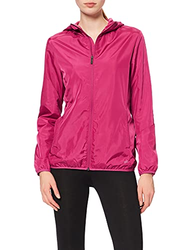 CARE OF by PUMA Chaqueta Cortavientos Impermeable para Mujer, Rosa (Pink (magenta)), 40, Label: M