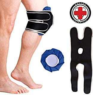 Doctor Developed Knee Ice Pack/Hot & Cold Pack with Wrap/Support Brace to Hold in Place – Ideal for Knee Injuries, Pain, Arthritis, Sprains, Strains & More, Reusable & Simple to use