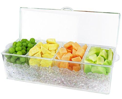 Estilo 4 Section Condiment on Ice, Clear