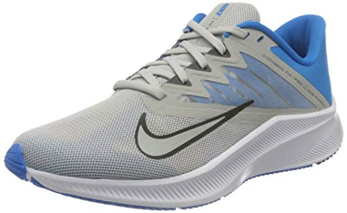 Nike Herren Quest 3 Running Shoe, Grey Fog/Unlit Smoke Grey-Characterize Blue-Particle Grey-White, forty five.5 EU thumbnail