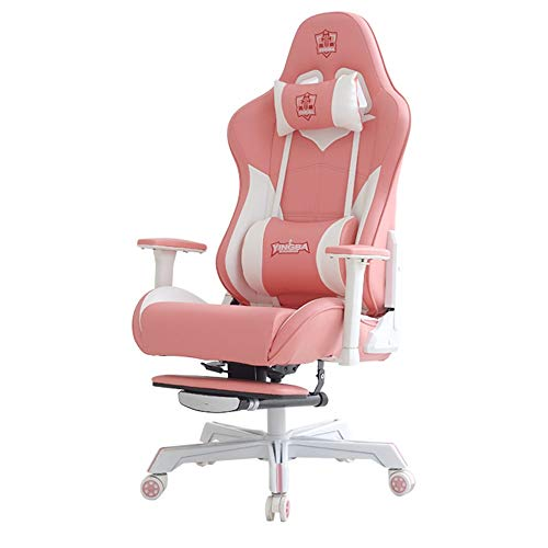 Gaming Chair New Gaming Chair Pink Girl Home Computer Chair Comfortable Net Red Anchor Reclining Gaming Chair Home Internet Cafe Competitive Chair Office Video Game Chairs