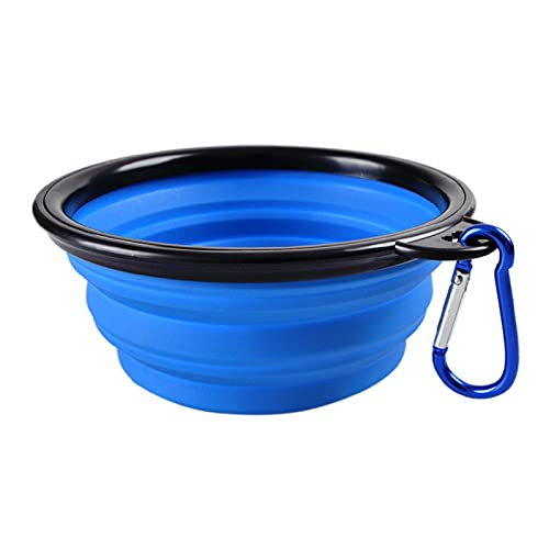 LTE Dog Bowl Foldable Silicone Pet Cat Dog Food Water Feeder Travel Portable Feeding Bowls Puppy Doggy Food Container