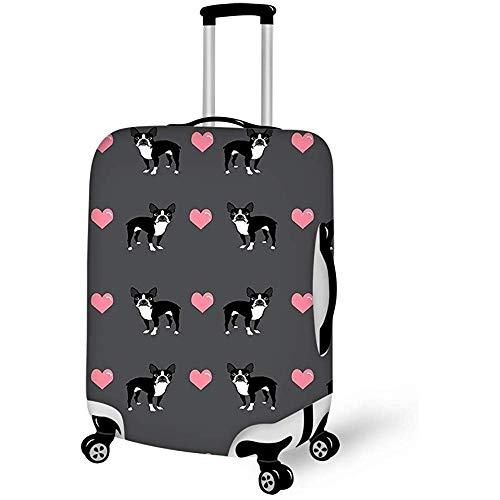 Boston Terrier Love Hearts Equipaje de Viaje Funda de Maleta Protector de Equipaje Funda de Equipaje...