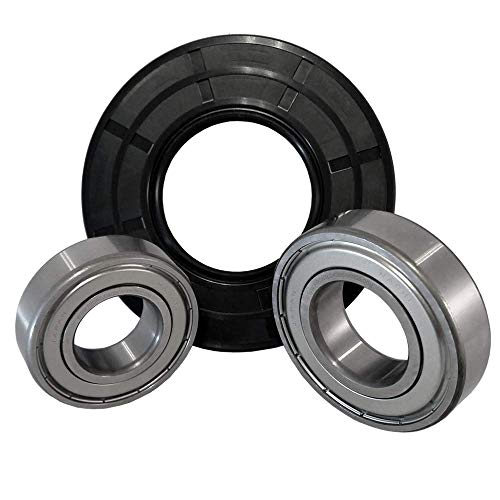 """Front Load Bearings Washer Tub Bearing and Seal Kit with Nachi bearings, Fits Maytag Tub W10213923 (Includes a 5 year replacement warranty and link to our""""How To"""" videos)."""