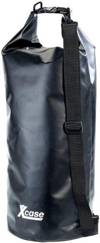Xcase Schwimmsack: Wasserdichter Packsack 25 Liter, schwarz (Wasserdichter Packsack-Rucksack)
