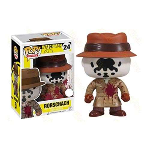 Nologo YYBB Pop-Figur!Watchmen - Bloodstained Rorschach Von Film-Geschenk-Sammlung Dekorative Spielzeug 3,9 Inches Figurines
