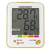 Tutoy S-Ws18 Higrómetro Termómetro Interior Monitor De Humedad Al Aire Libre Digital LCD Temperatura Reloj Termo Higrómetro Medidor con Min/MAX Valor De Alarma