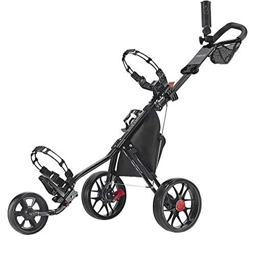 GDD Golftrolley Golfwagen Golf-Trolley, 3-Rad-Golf Push Cart - Super Lite Deluxe, leicht, einfach zu Falten Caddy Wagen Pushcart for Outdoor-Reisen Sport Fitnesstraining