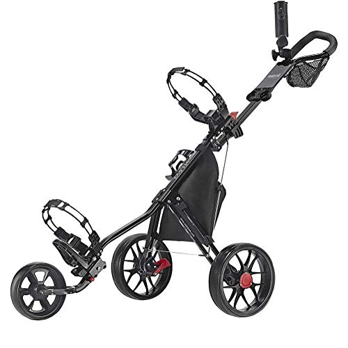 Buy Bargain RRH Golf Push Cart Golf Trolley,3 Wheel Golf Push Cart - Super Lite Deluxe, Lightweight,...
