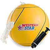Western Star Tetherball W/Rope Backyard Outdoor for Kids Yellow...