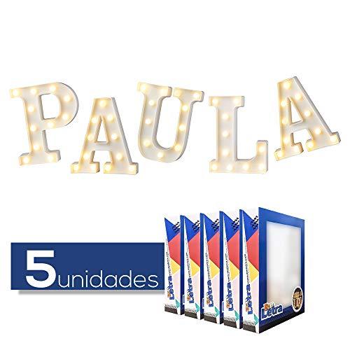 DON LETRA Nombres Españoles de Chicos y Chicas, Letras Luminosas Decorativas con Luces LED, Ideales para Mesa y Mesilla, Pared, Dormitorio Infantil, Fiesta de Cumpleaños, Bodas - Paula