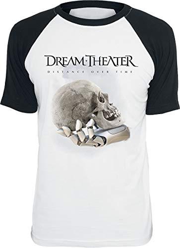 Dream Theater Distance Over Time Männer T-Shirt weiß/schwarz L 100% Baumwolle Band-Merch, Bands