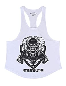 Cabeen Men's Bodybuilding Tank Tops Vest Sleeveless Gym Workout Sports Muscle Shirts Exercise & Fitness Tops