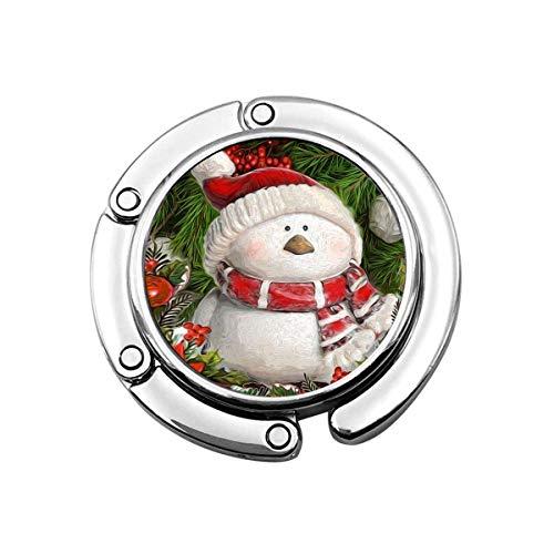 Muñeco de Nieve Muñecos de Nieve de Dibujos Animados Galaxy Copo de Nieve Gancho para Monedero Plegable Perchas para Bolso Decoración G