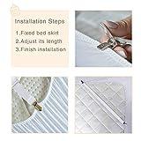 Bedecor verstellbare Bettlakenspanner, 8 Stück, Weiß, elastisch, für die Ecken von Bett, Matratze oder Sofa (30-120cm) - 2