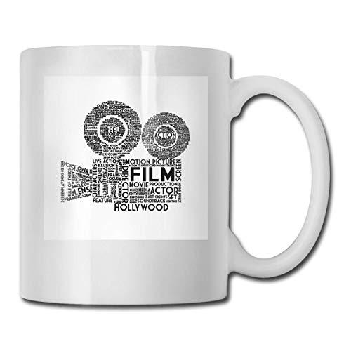 haoqianyanbaihuodian Film Camera Typography - Cerámica negra CUPS Code 330ml