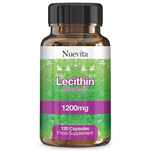 Lecithin 1200mg 120 Softgel Capsules - High Strength Diet and Weight Loss Supplement UK Made. Pharmaceutical Grade