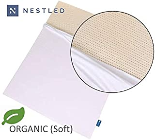 Organic 100% Natural Latex Mattress Topper - Soft Firmness - 2 Inch - Queen Size - Organic Cotton Cover Included - GOLS & GOTS Certified.