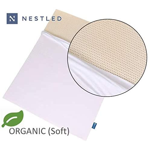 Certified Organic 100% Natural Latex Mattress Topper - Soft Firmness - 2 Inch - California King Size - Organic Cover Included.