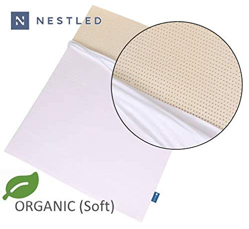Certified Organic 100% Natural Latex Mattress Topper - Soft Firmness - 3 Inch - King Size - Organic Cover Included.