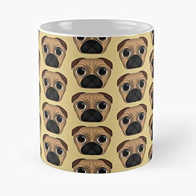 Pug Vector Cute Dog - Coffee Mug Best Gift 11 Oz Father Day