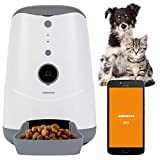 MEDION Smarter Futterautomat (Futterspender für Hunde und Katzen, Trockenfutter, Fütterungszeiten, Portionenanzahl, Steuerung per App, HD-Video Kamera, MD60228)
