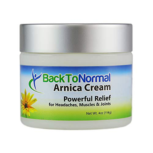 New and Improved Extra Strength Formula! Back To Normal Arnica Cream, 4 Ounces. FDA Registered. Topical Analgesic for Joint and Muscle Relief.