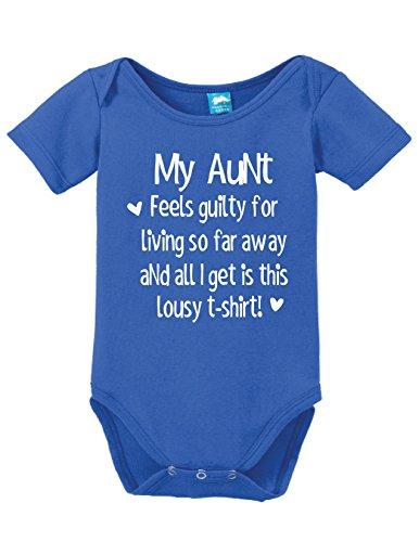 Sod Uniforms My Aunt Feels Guilty Printed Infant Bodysuit Baby Romper Royal 0-3 Month