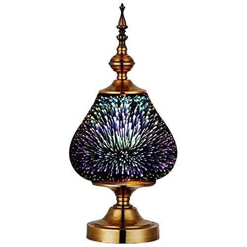 Bombilla Magia Off Lámparas Metal de artificiales Show 3D mesa Vidrio Colorido de la Lámpara Retro Fuegos recubierto Luces vacío noche Recubierto con WrBoxQdCe